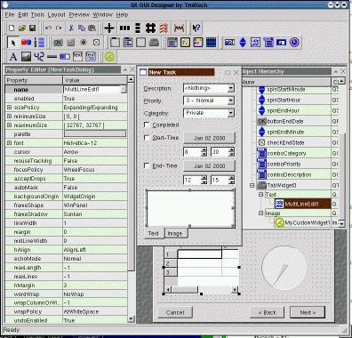 Qt Toolkit - Qt GUI Designer