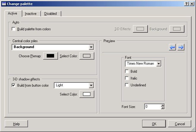 The Palette Editor Dialog