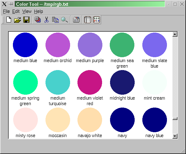 Colornames: Creating A Main Window Application