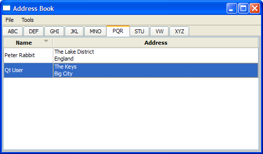 Address Book Example | Qt 4 8