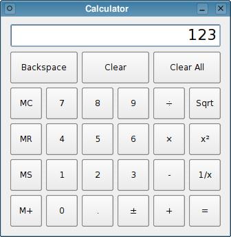 calculator example qt 4 8. Black Bedroom Furniture Sets. Home Design Ideas
