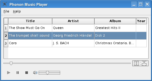 Music Player Example | Qt 4 8