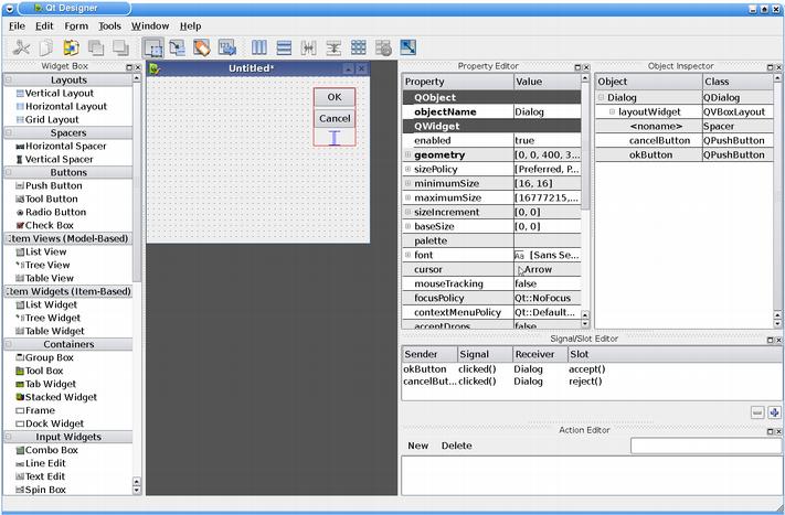 Qt Designer Components