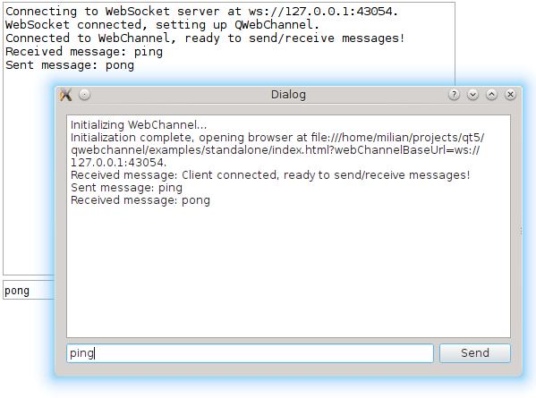 Qt WebChannel Standalone Example | Qt WebChannel 5 10