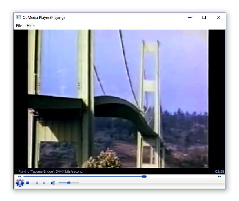 Media Player Example (ActiveQt) | Active Qt 5 11