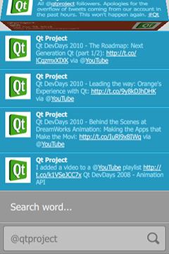 Qt Quick Demo - Tweet Search   Qt Quick 5 11
