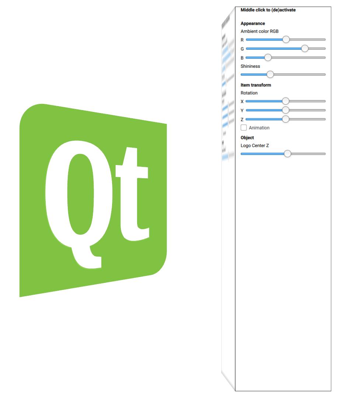 Qt 3D: Scene2D QML Example | Qt 3D 5 11