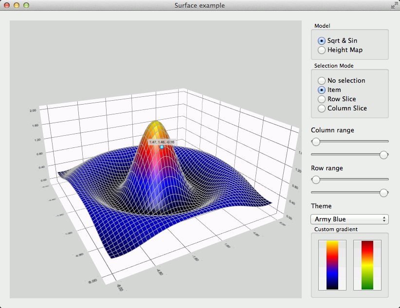Surface Example   Qt Data Visualization 5 11