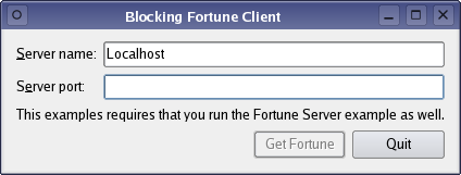 Blocking Fortune Client Example | Qt Network 5 6
