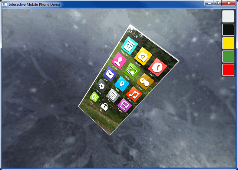 Interactive Mobile Phone Example | Qt Canvas 3D 5 6