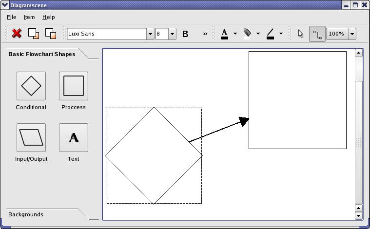 Diagram Scene Example | Qt Widgets 5 6
