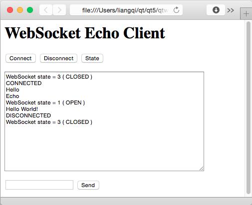 Echo Server Example | Qt WebSockets 5 6