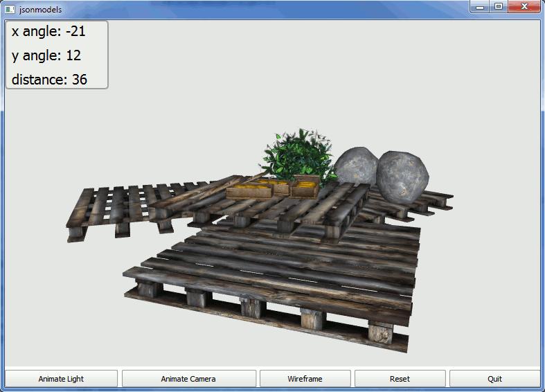 JSON Models Example | Qt Canvas 3D 5 6