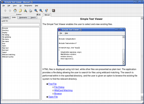 Simple Text Viewer Example   Qt Assistant Manual