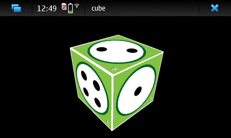 Cube OpenGL ES 2 0 example   Qt OpenGL