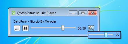 Music Player | Qt Windows Extras 5 8
