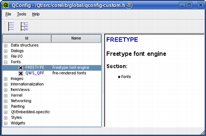 Qt for Embedded Linux Fonts   Qt 5 9