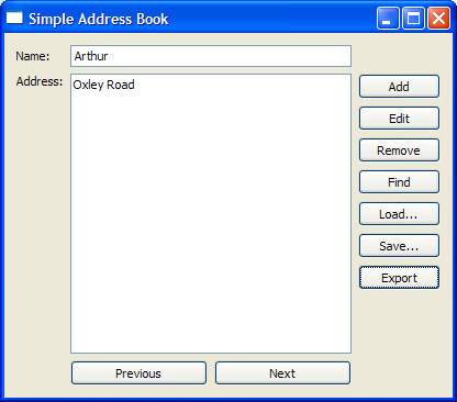 Address Book 7 - Additional Features
