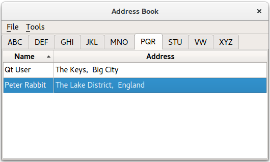 Address Book Example – Address Book Example