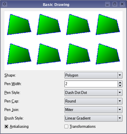 basic drawing example qt widgets 5 12