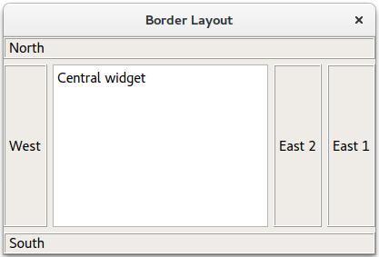 Border Layout Example | Qt Widgets 5 13 1