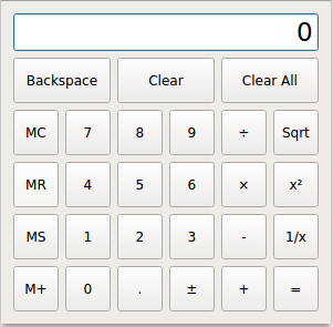 Calculator Example | Qt Widgets 5 13 1