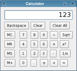 Calculator Example | Qt Widgets 5 13 0