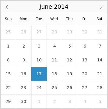 Calendar QML Type | Qt Quick Controls 1 5 13 0