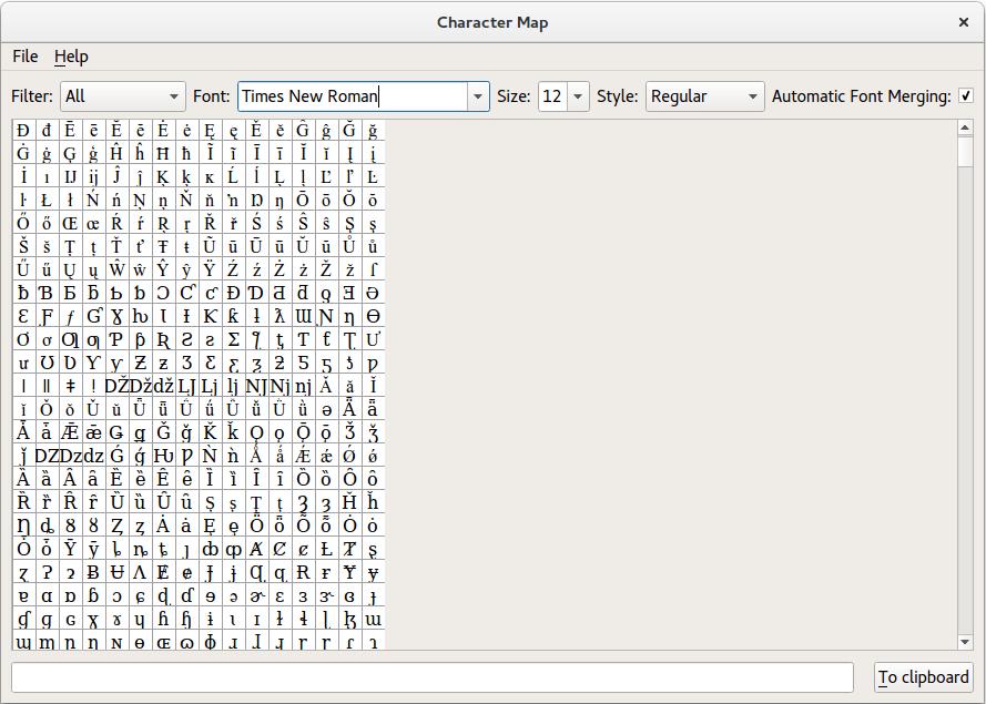 Character Map Example Qt Widgets 511