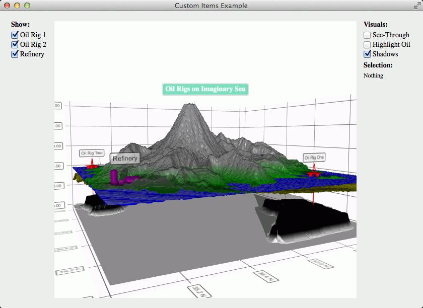 Custom Items Example | Qt Data Visualization 5 13 0