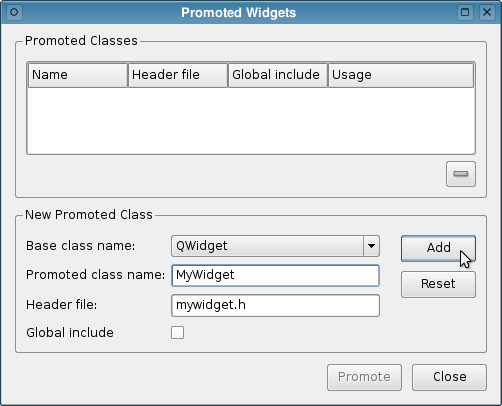 Qt Designer | Using Custom Widgets With Qt Designer Qt Designer Manual