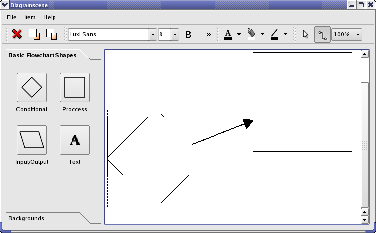 Diagram Scene Example | Qt Widgets 5.9