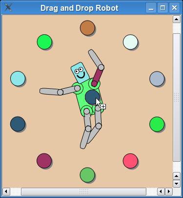 Drag and Drop Robot Example | Qt Widgets 5 13 1