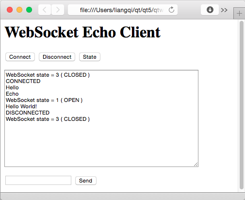 Echo Server Example | Qt WebSockets 5 13 1