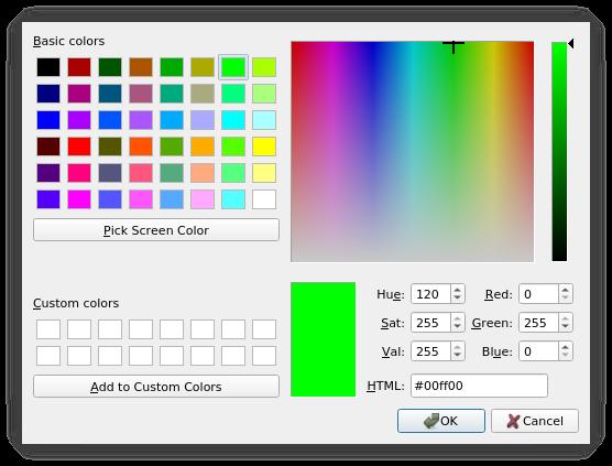 Qcolordialog Class Qt Widgets 5 13 0