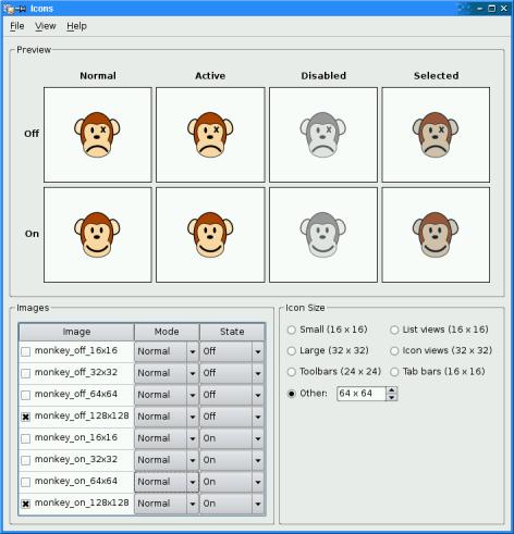 Icons Example | Qt Widgets 5 13 1