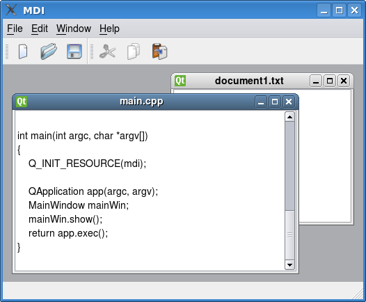 MDI Example | Qt Widgets 5.11