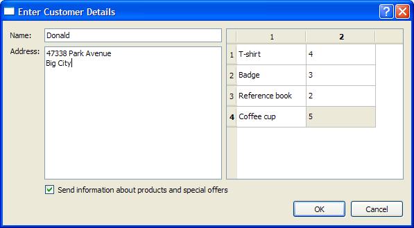 Order Form Example   Qt Widgets 5.8