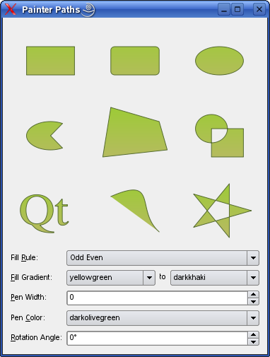 Painter Paths Example | Qt Widgets 5 13 1