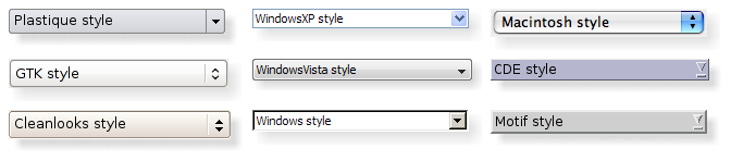 QStyle Class | Qt Widgets 5.12