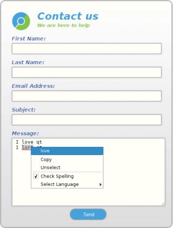 WebEngine Widgets Spellchecker Example | Qt WebEngine 5 13 1