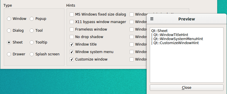 Window Flags Example | Qt Widgets 5 13 1