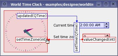 World Time Clock Plugin Example | Qt Designer Manual