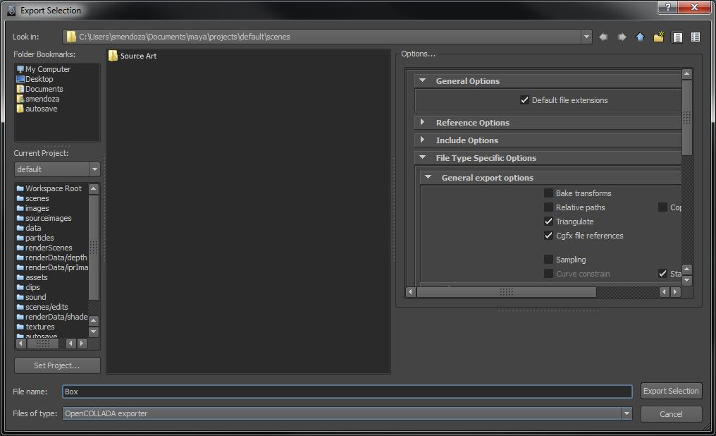 Exporting from Maya | Qt 3D Studio 2 4 0