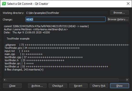 Using Git | Qt Creator Manual