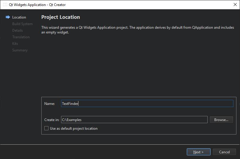 Creating a Qt Widget Based Application | Qt Creator Manual
