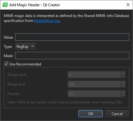 Editing MIME Types | Qt Creator Manual