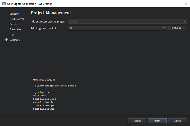 Creating A Qt Widget Based Application Qt Creator Manual