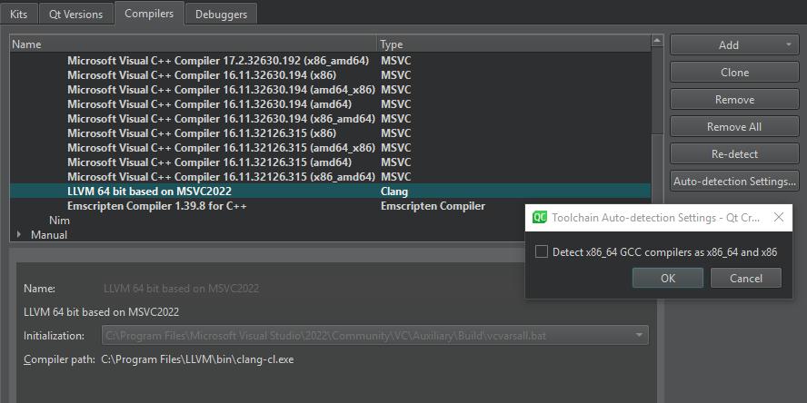 Adding Compilers Qt Creator Manual